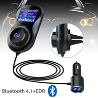 Lcd Wireless Bluetooth 4.1 EDR Car Mp3 Player Kit Hands Dual USB FM Transmitter