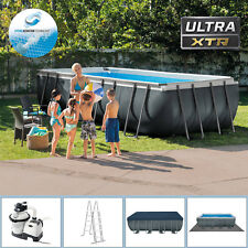 Intex 549x274x132 Swimming Pool XTR Rechteck Stahlwand Frame Schwimmbad 28352gs