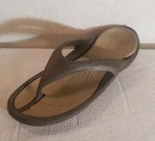 Crocs Men Sz 13 Dark Brown Thong Comfort Flip Flops Sandals Shoes
