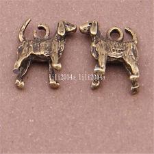 10pc Antique Bronze Charms dog Pendant Bead accessories wholesale  PL514
