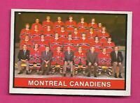 1974-75 OPC # 330 CANADIENS UNMARKED TEAM CHECKLIST VG+ CARD (INV# D1879)