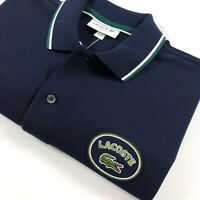 Lacoste Polo Shirt Men's Classic Fit Navy Blue Cotton Piqué PH228400-BUY