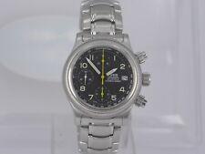 Vintage SWISS Oris black dial SS bracelet auto date chrono watch