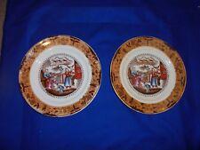 2 Antique Lustre plates-Oriental Design