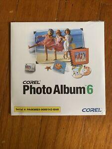 New Sealed Corel Photo Album 6 For Windows 2005