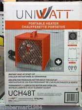 Stelpro UniWatt PORTABLE FORCED AIR HEATER CONSTRUCTION UCH48T 4800 watts orange