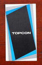 TOPCON SUPER DM AND IC-1 SALES BROCHURE/126922