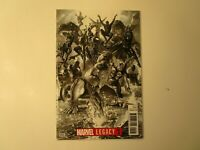 2017 MARVEL LEGACY # 1 BLACK & WHITE VARIANT, UNREAD, IN NEAR MINT(-) CONDITION