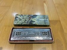 Hohner Echo Key Bb+F Harp Double Sided 55/80 Bell Metal Reeds Detail Cleaned