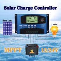 MPPT 30-100A Solar Regulator Charge Panel Controller Auto Focus 12V/24V Dual USB