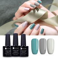 3 Flaschen Gellack Nagel UV Gel Lack Grau Rein Serie Soak Off Nail Art Maniküre