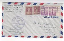 1942 Postal Service #42, USAFIA 97, WWII Censor Australia Airmail Mixed Franking
