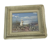 """Vintage Oil Painting by Walton. Sea Maiden. 13.25""""x15.25"""" Signed and Framed"""