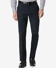 84c6ad478b Perry Ellis 4877 Slim Fit Flat Front Mens Dress Pants 34w 32l