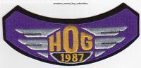 1987 HOG Members Patch HARLEY DAVIDSON OWNERS GROUP vest rocker HD MC club
