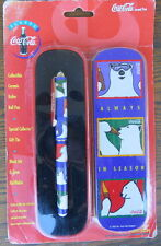 1995 Pentech Coca-Cola Company Collectible Ceramic Roller Ball Pen Gift Tin NIP
