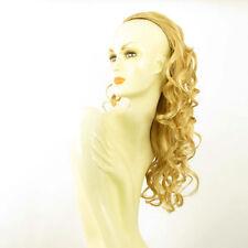Demi-tête, demi-perruque ondulée longue 58 cm  blond clair doré ref 016 en lg26