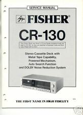 FISHER CR130 SERVICE MANUAL Original FREE USA SHIPPING