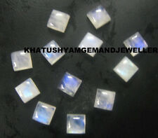 AAA Quality 25 Pieces Rainbow Moonstone 5X5 mm Square cabochons Loose Gemstone
