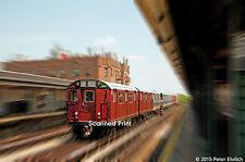 Original Photograph: New York IRT Train Of Many Colors psg 52nd St IB (5 x 7)