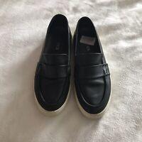 J Slides Leather Sneaker Black Women's Size 8.5