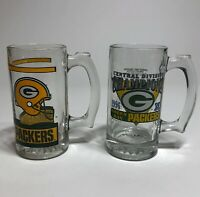 Vintage NFL Green Bay Packers Champion 1996 Glasses Beer Stein Mugs Cups 10 Oz