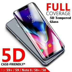 For Samsung Galaxy S8 S9 Plus S7 Edge Full Cover Tempered Glass Screen Protector