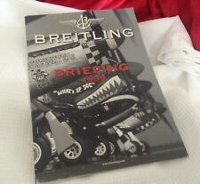 BREITLING COLLECTOR'S  CATALOG WITH COLOR IMAGES OF FIGHTER PLANES AND WATCHES