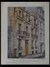 MAISONS LAFFITTE -PLANCHES ARCHITECTURE 1905 PARIS 90 RUE FAISANDERIE, BOURSIER