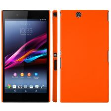 Coque rigide orange pour Sony Xperia Z Ultra aspect mat toucher rubber gomme