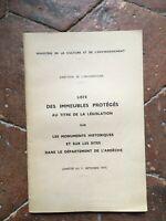 L Ardeche Lista Delle Monumenti Storici Ministero Di Ambiente 1977