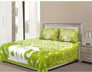 Cotton Comfort Animal Double BedSheet, With Pillow Cover Printed  Bed Sheet