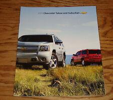 Original 2011 Chevrolet Tahoe and Suburban Sales Brochure 11 Chevy