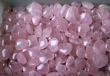 WHOLESALE PRICE! 100Pcs Pink Rose Quartz Crystal Polished Love Heart