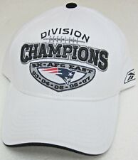 NFL New England Patriots White Division Champions Structured Adj Hat By Reebok