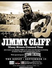 """JIMMY CLIFF """"MANY RIVERS CROSSED TOUR"""" 2013 SALT LAKE CITY CONCERT POSTER"""