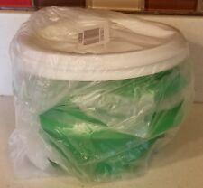 New! Tupperware Servalier 10 oz. Bowls Set Of Two Green & White Snacks, Kids,.