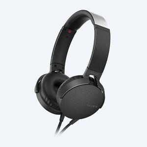 SONY MDR-XB550AP BLACK EXTRA BASS ON-EAR HEADPHONES MDRXB550AP HEADSETS NEW