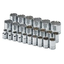 "SK HAND TOOL 1924 - 1/2"" Dr 12 Pt STD Metric  Socket Set 24 Pc"