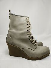 Dr Martens Women's Wedge Boots Gray Leather Shoes Size UK 7 US 9
