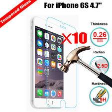10Pcs 9H+ Genuine Premium Tempered Glass Screen Protector Film For Apple Iphone