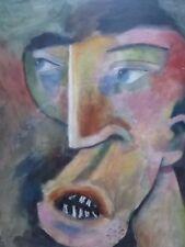 Óleo sobre lienzo la cara artista Rudolph Eavey envío gratis a Inglaterra
