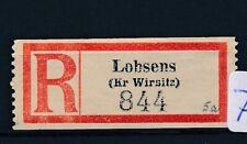 73344) Dt.Reich Reco-Zettel Lobsens (Kr Wirsitz)