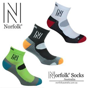 "2 x Norfolk® Running Microfibre, Cushioned Qtr Socks - ""Abrahams"""