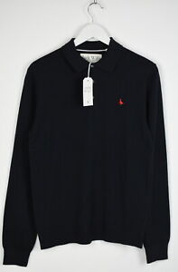 JACK WILLS ALFIE Men's X SMALL Long Sleeve Wool Blend Polo Jumper Sweater 7905