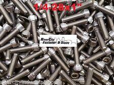 "(10) 1/4-28x1 Socket Allen Head Cap Screw Stainless Steel Fine Thread 1/4x1"""
