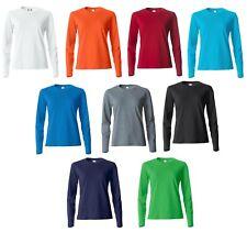 Clique T-shirt maglietta Donna manica lunga senza polsini in cotone pettinato