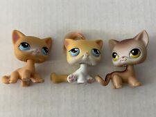 Lot Of 3 Littlest Pet Shop 2004 Short Hair Cats