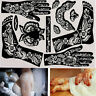 1x India Henna Template Hand Body Art Tattoo Temporary Tools Stencils Reusable