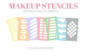 Makeup Swatch Stencil Template Sticker Eyeshadow Lipstick Pigment Cosmetics - UK